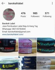 instagram barokah label